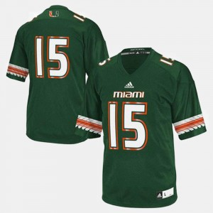 University of Miami Jersey College Football Mens #15 Green