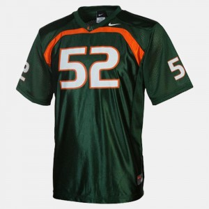 Ray Lewis Miami Hurricanes Jersey College Football #52 Men's Green