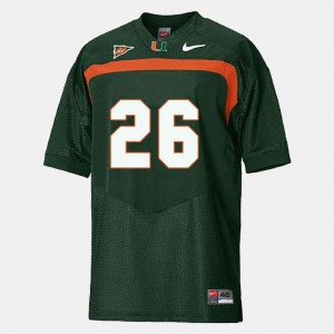 #26 College Football Sean Taylor Hurricanes Jersey Green For Men's