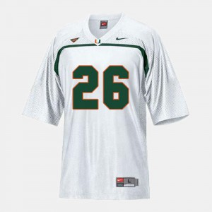 #26 Sean Taylor Miami Jersey White College Football For Kids