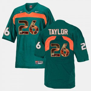 Green Sean Taylor Miami Hurricanes Jersey For Men's Player Pictorial #26