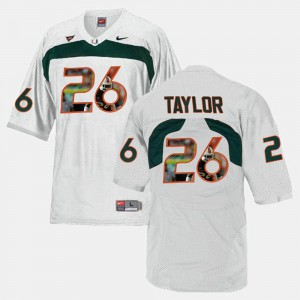 Player Pictorial Mens White #26 Sean Taylor Hurricanes Jersey