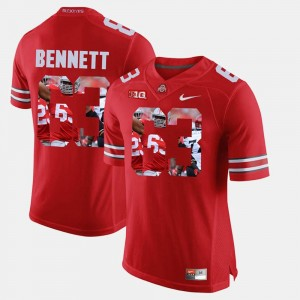 Pictorial Fashion #63 Michael Bennett Ohio State Jersey Mens Scarlet