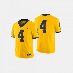 Wolverines Jersey College Football #4 Maize For Men