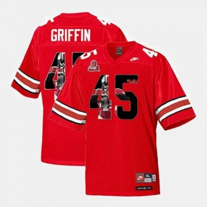 Scarlet Throwback #45 Mens Archie Griffin Ohio State Jersey