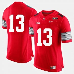 Men's Ohio State Buckeyes Jersey College Football #13 Red