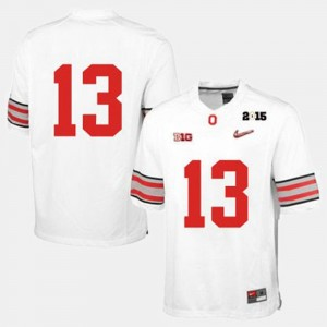 #13 For Men's White College Football Ohio State Jersey
