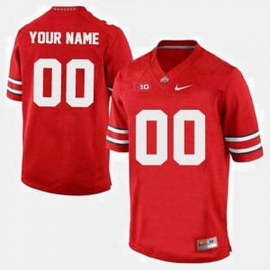 OSU Customized Jersey Red College Football #00 Men's