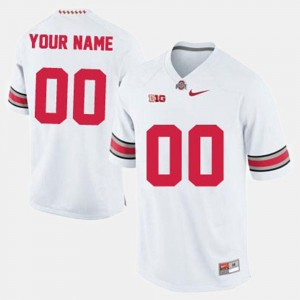 College Football #00 OSU Buckeyes Customized Jersey For Men's White