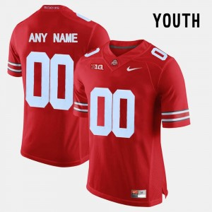 #00 Red OSU Customized Jerseys Kids College Limited Football