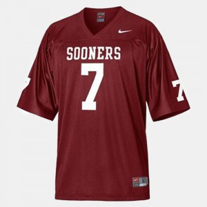 Youth Red College Football DeMarco Murray Oklahoma Jersey #7