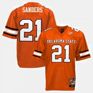 #21 Youth College Football Orange Barry Sanders Oklahoma State Jersey