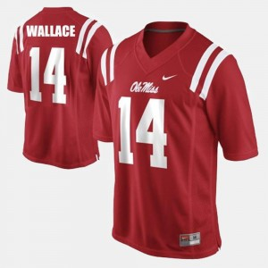 College Football Bo Wallace University of Mississippi Jersey Men #14 Red