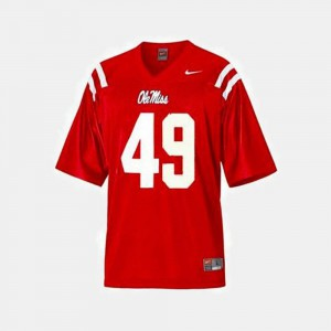 For Kids College Football Red Patrick Willis Ole Miss Rebels Jersey #49