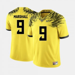 Byron Marshall Oregon Jersey #9 Yellow College Football For Men's