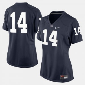 College Football Navy Blue Penn State Jersey #14 Ladies