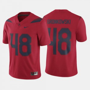 #48 For Men's Alumni Football Game Red Rob Gronkowski Wildcats Jersey