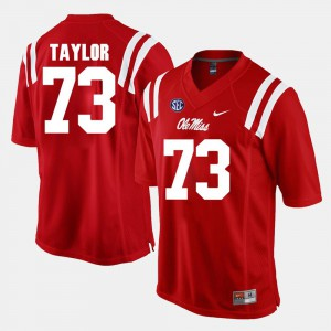 Red #73 Rod Taylor Ole Miss Jersey Alumni Football Game Men