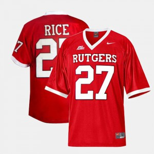 College Football Red For Men's #27 Ray Rice Rutgers Jersey