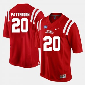 Shea Patterson Ole Miss Jersey #20 Red Alumni Football Game For Men