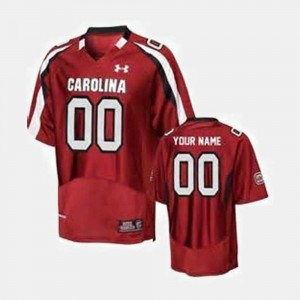 Red #00 South Carolina Customized Jersey College Football Mens
