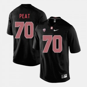 Andrus Peat Stanford University Jersey College Football #70 For Men's Black