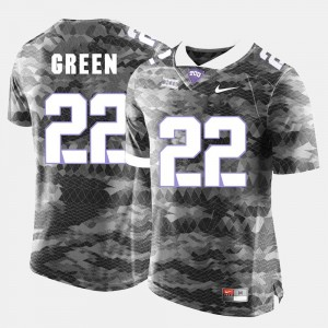 #22 For Men Aaron Green Horned Frogs Jersey Grey College Football