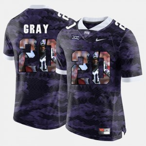 #20 Purple Deante Gray Texas Christian Jersey High-School Pride Pictorial Limited For Men's