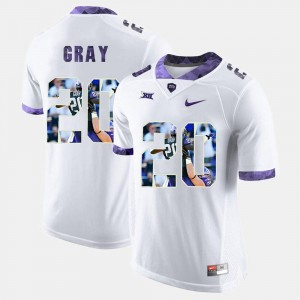 #20 White High-School Pride Pictorial Limited Men's Deante Gray Texas Christian Jersey