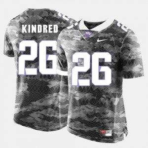 Derrick Kindred Texas Christian Jersey For Men #26 Grey College Football