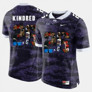Derrick Kindred Texas Christian University Jersey Purple High-School Pride Pictorial Limited #26 For Men