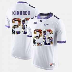 High-School Pride Pictorial Limited White #26 For Men Derrick Kindred Horned Frogs Jersey