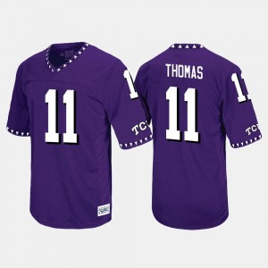 Purple Men's Throwback #11 Dylan Thomas Horned Frogs Jersey