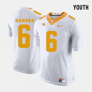 #6 For Kids Alvin Kamara Tennessee Jersey College Football White