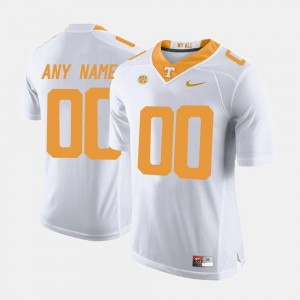 #00 White College Limited Football Mens UT Customized Jerseys