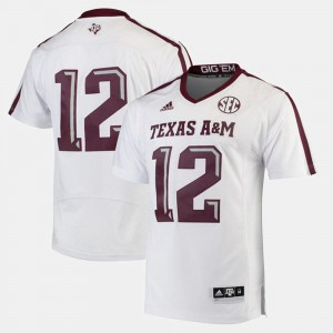 Mens 2017 Special Games White Texas A&M Jersey #12