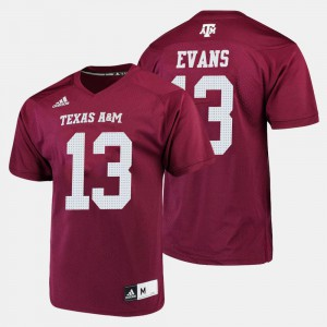 College Football For Men's #13 Mike Evans Texas A&M Aggies Jersey Maroon