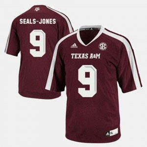 Red Youth College Football #9 Ricky Seals-Jones Texas A&M Aggies Jersey