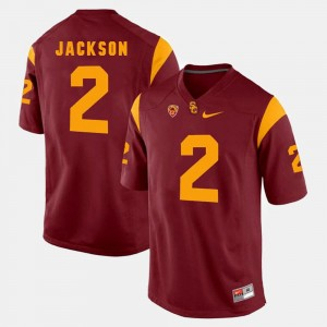 Red Adoree' Jackson USC Trojans Jersey Pac-12 Game #2 For Men's
