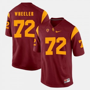 Red Pac-12 Game Chad Wheeler USC Jersey #72 For Men