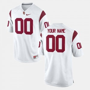 #00 White College Football For Men's USC Customized Jersey