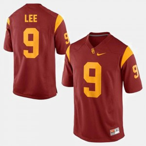 For Men's Marqise Lee USC Jersey #9 Red College Football