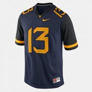 Andrew Buie West Virginia Jersey Blue #13 For Men College Football