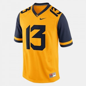 Gold College Football Andrew Buie West Virginia University Jersey #13 Mens