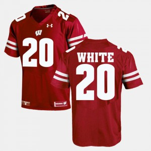 Red Alumni Football Game James White Wisconsin Badgers Jersey For Men's #20