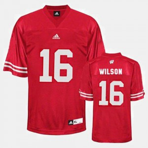 College Football For Men #16 Red Russell Wilson Wisconsin Badgers Jersey
