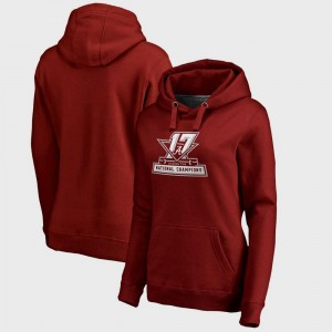 Bowl Game Ladies Crimson College Football Playoff 2017 National Champions Official Alabama Crimson Tide Hoodie