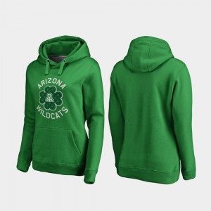 Kelly Green St. Patrick's Day Arizona Wildcats Hoodie For Women Luck Tradition Fanatics Branded