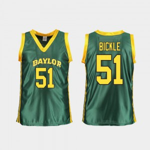 #51 Replica Caitlyn Bickle Baylor Jersey Green College Basketball Women's