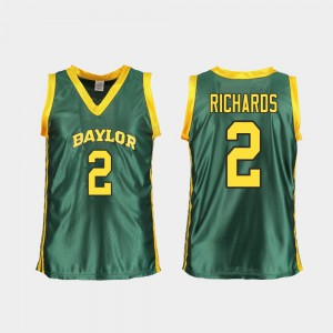 For Women's Replica College Basketball DiDi Richards Baylor University Jersey #2 Green